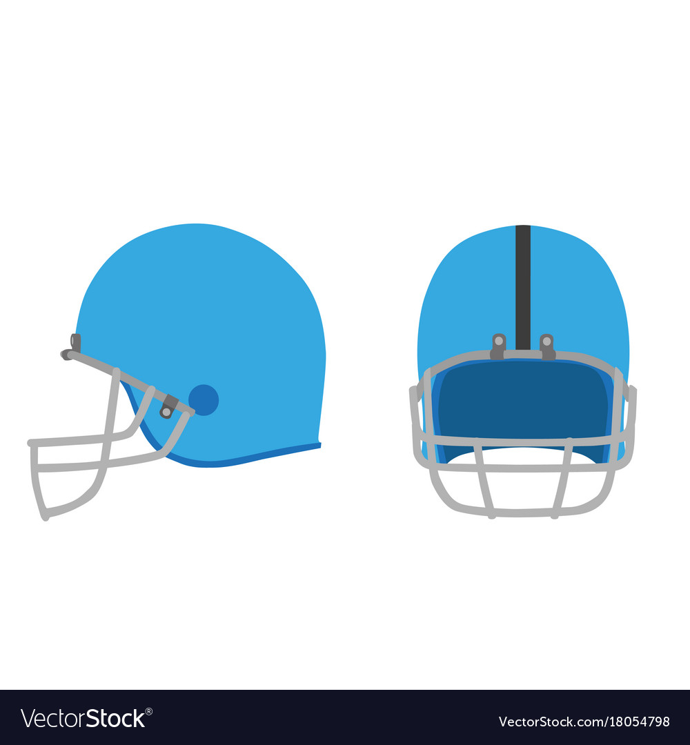 Football helmet american icon equipment isolated vector image