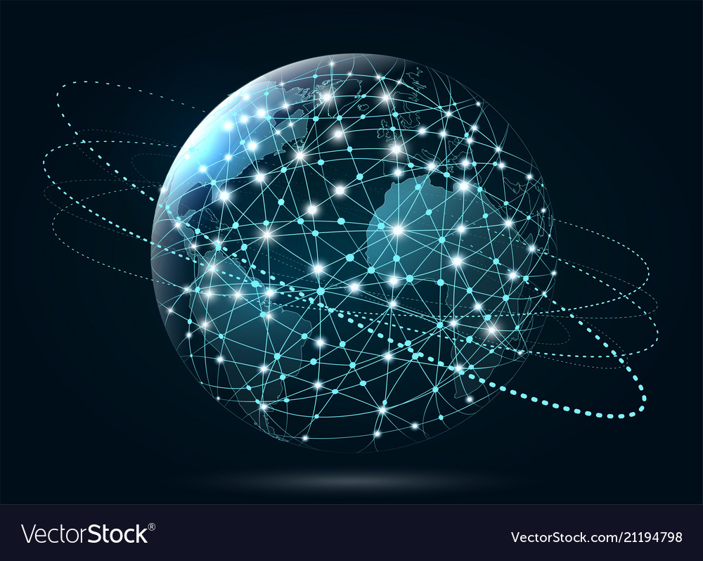 Global network connection world wide web