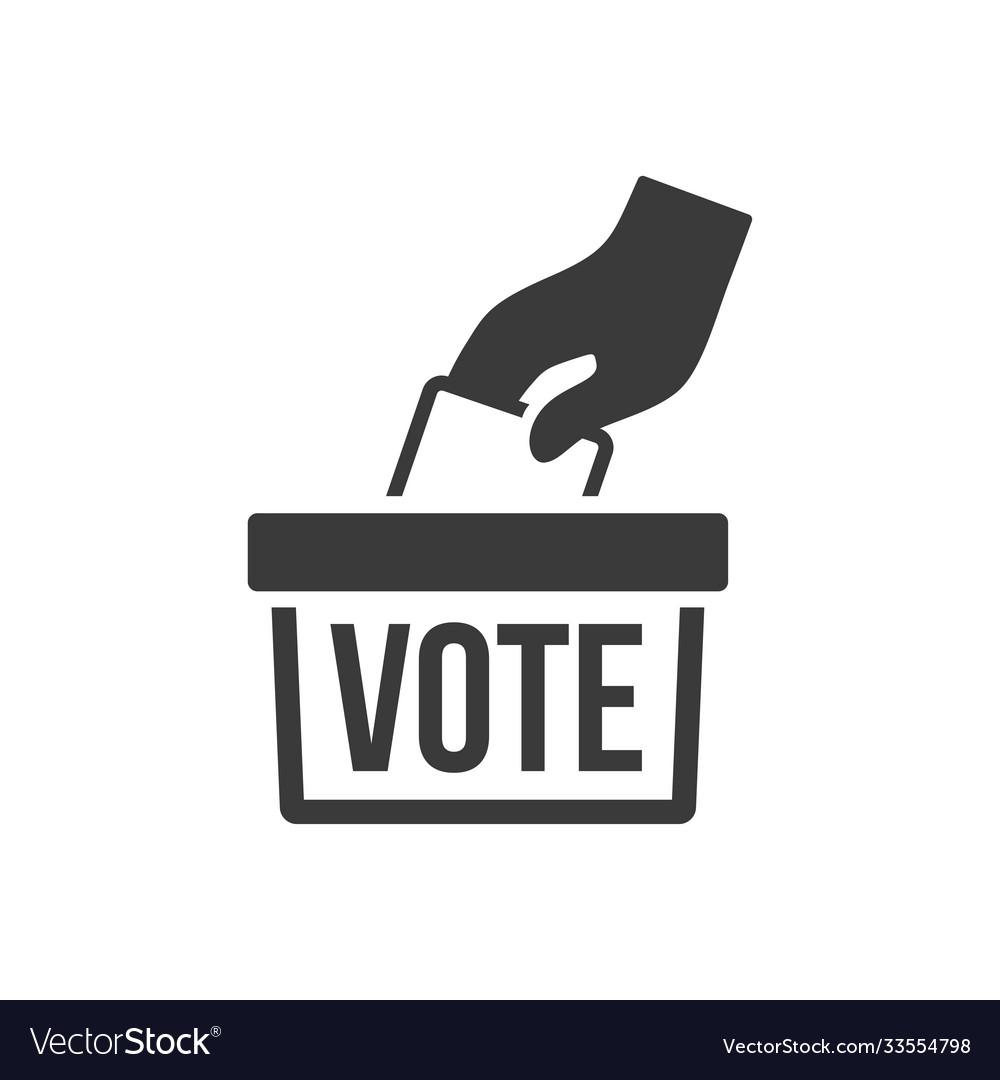 Icon vote black on white background