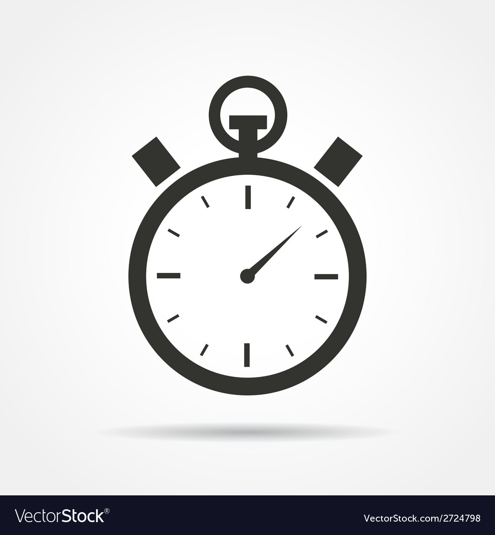 Stopwatch icon vector image