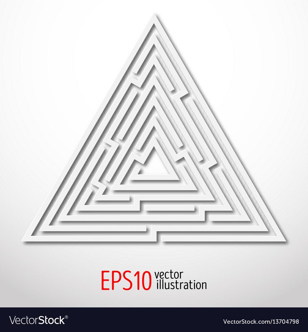 Triangular abstract maze 3d