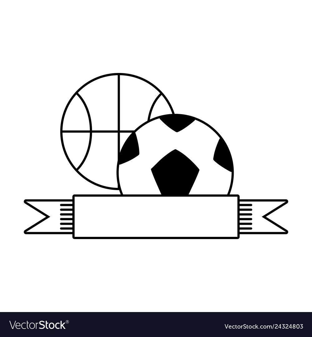 Basketball and football balls