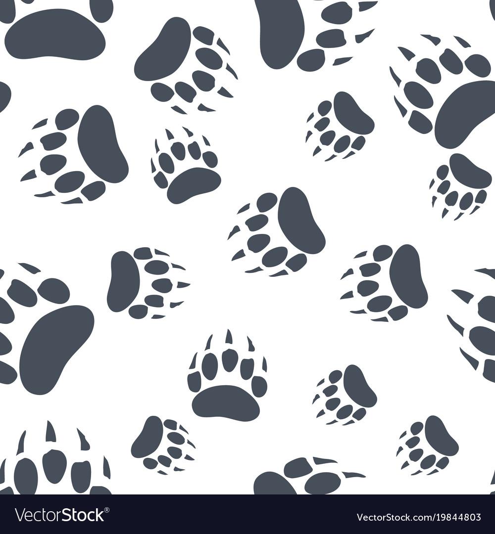 Bear claw bear footprint seamless pattern