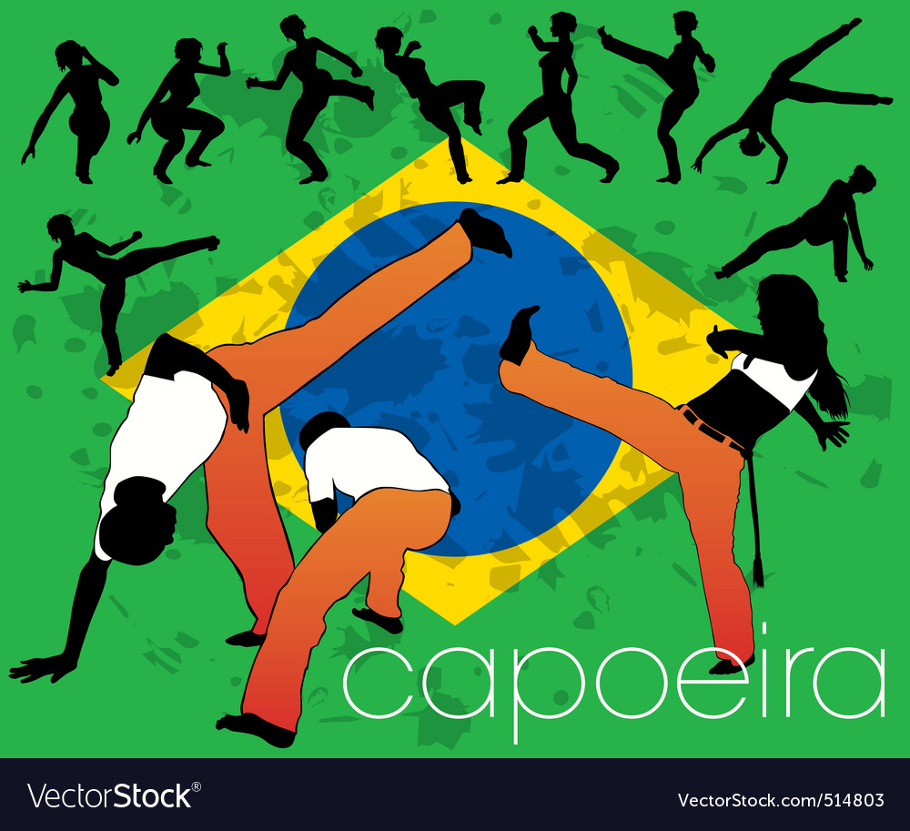 Capoeira silhouettes