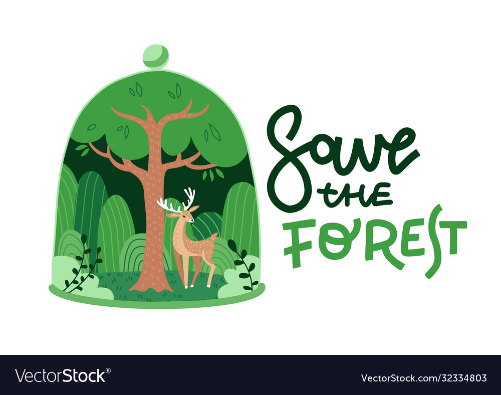 Eco green nature forest background template