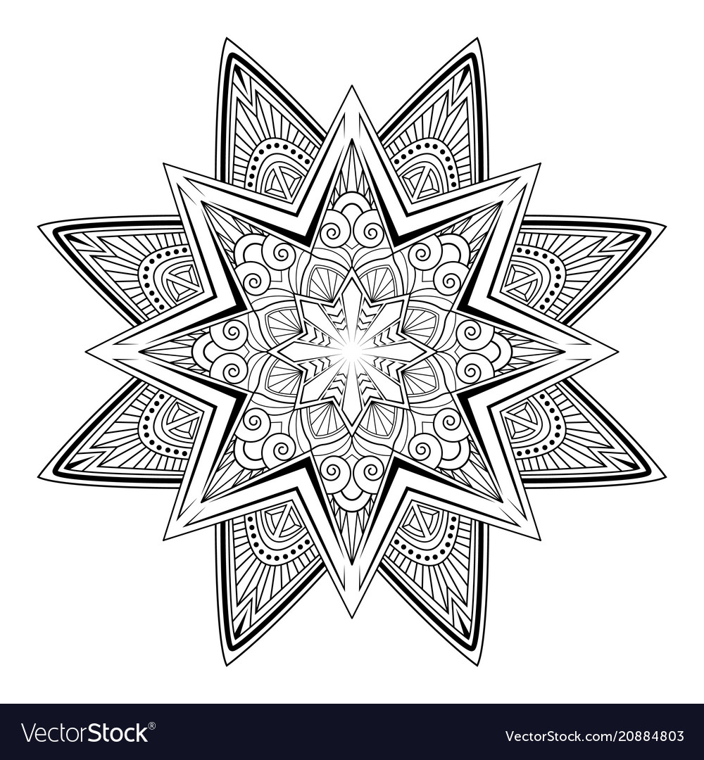 Mandala tattoo vintage decorative elements