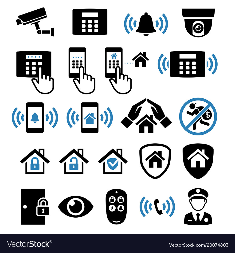 Security system network icons