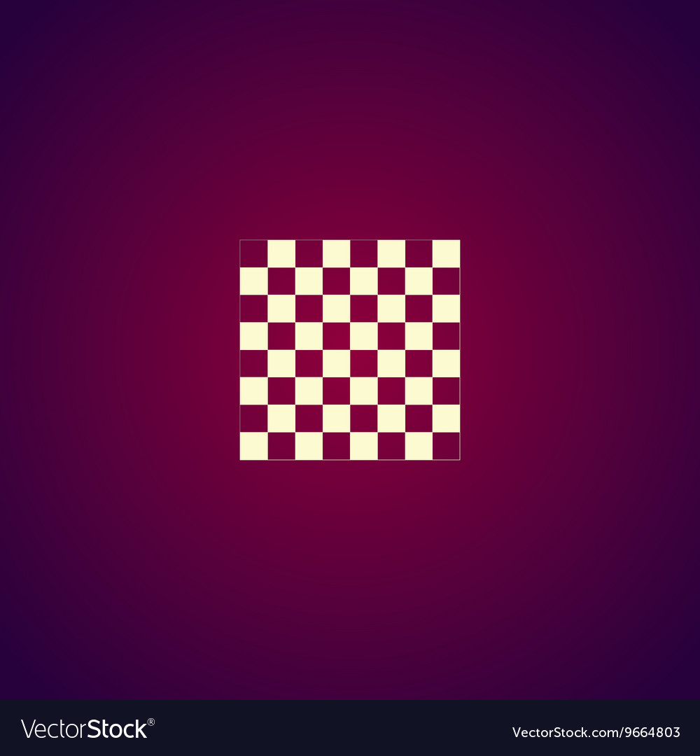Wooden chess board flat view from top