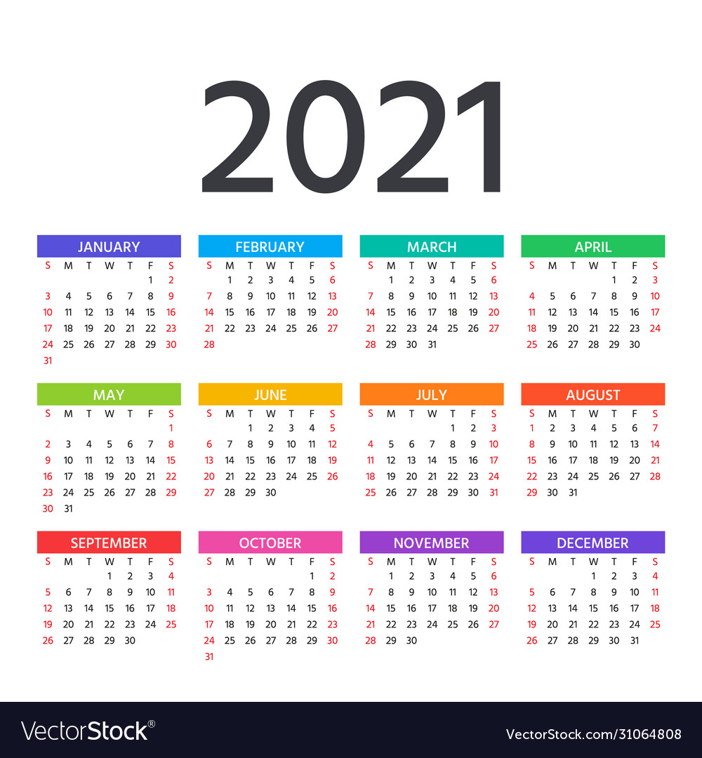 Template For 2021 Calendar Pictures