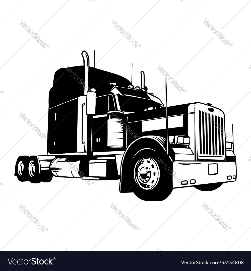 American truck - black and white