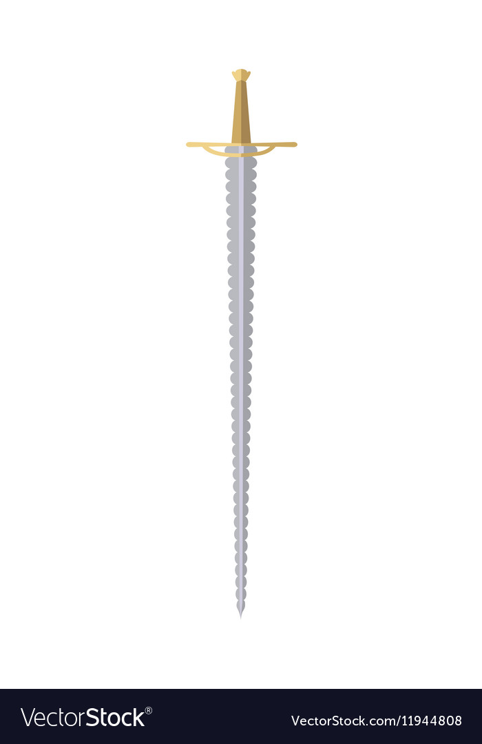 Cartoon Game Rapier Isolated on White