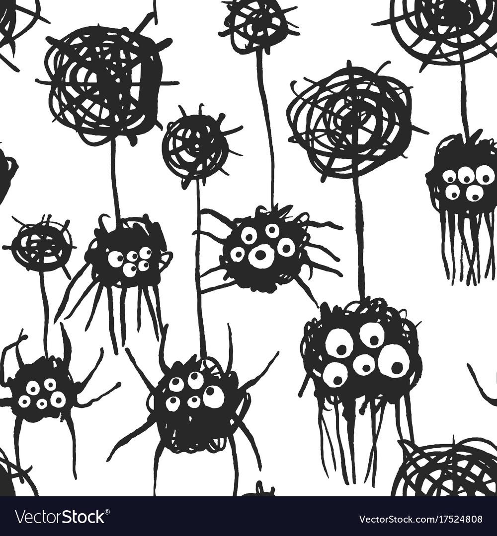 Cute spiders pattern