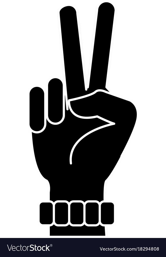 Hand Peace Symbol Royalty Free Vector Image Vectorstock