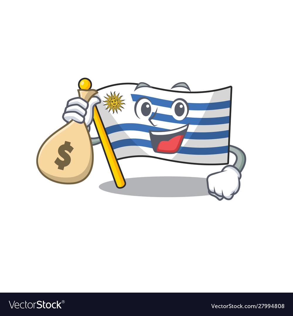 Uruguay Flag Money Clip