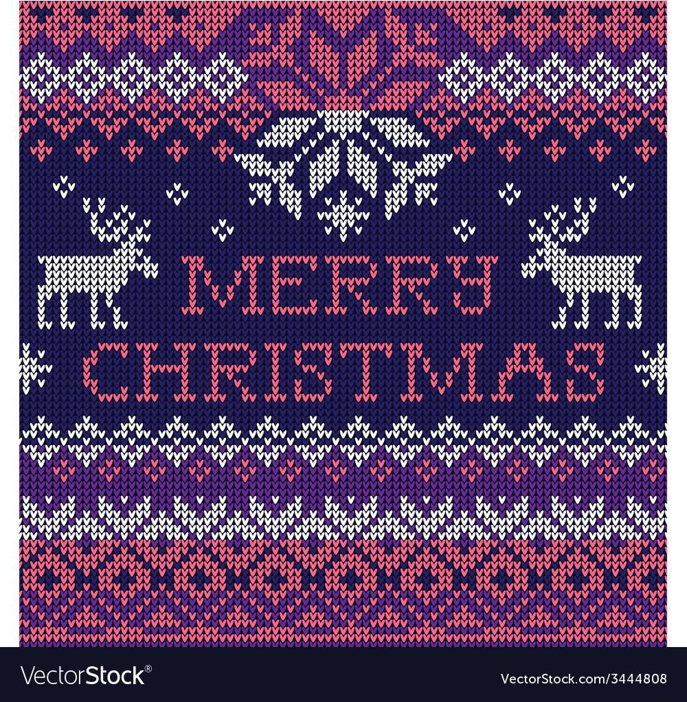 Merry Christmas Scandinavian style seamless