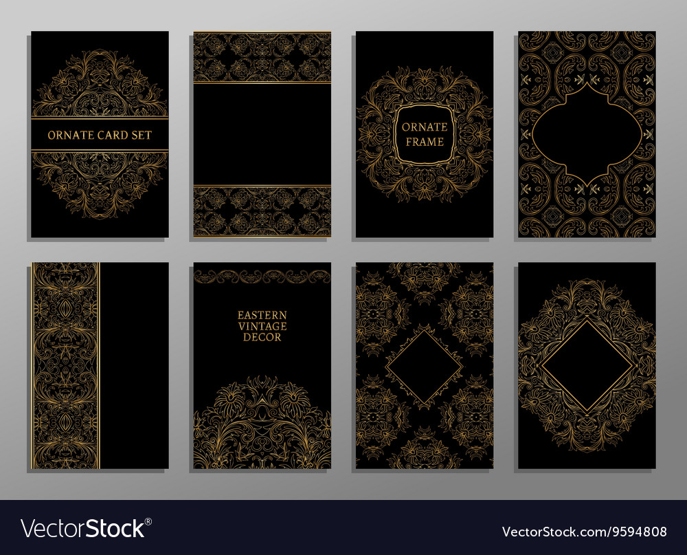 Set of flyer pages ornamental vector image