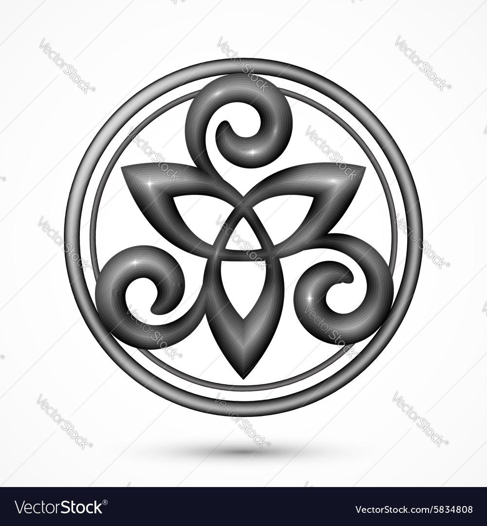 Stone celtic triskel symbol