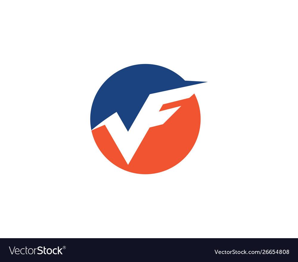 V f letter logo