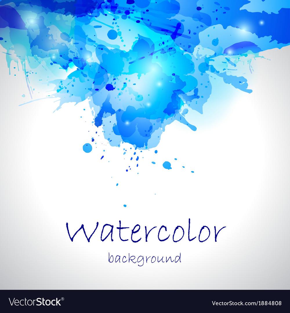 Watercolor blue blot background