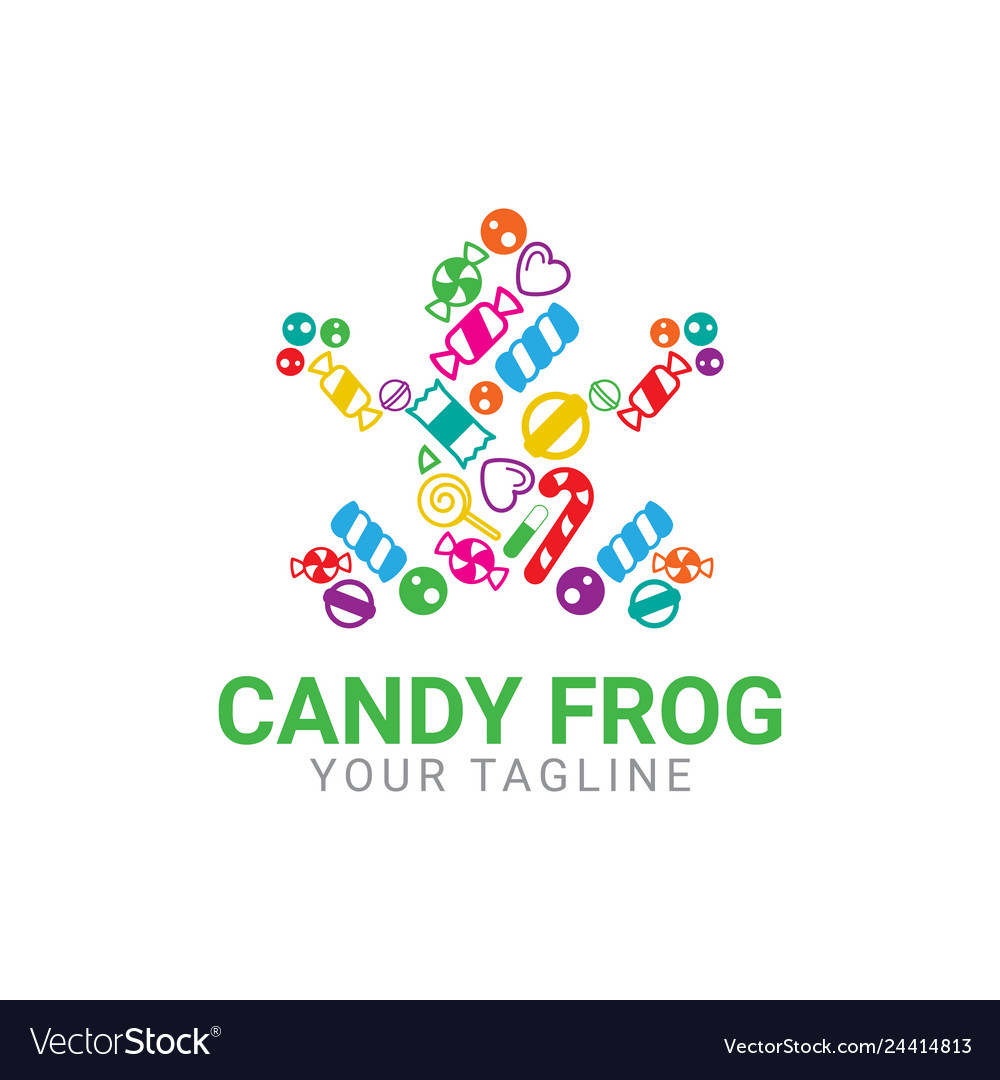 Abstract frog candy logo template icon