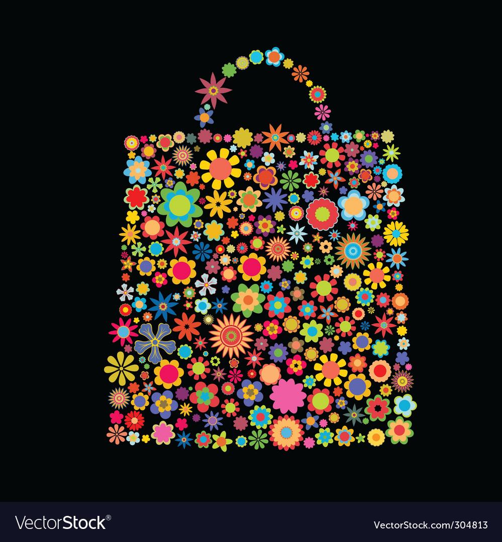 Flower bag vector image