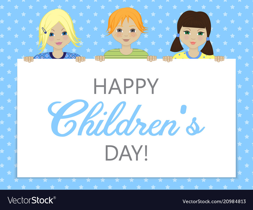 Greeting card with childrens day