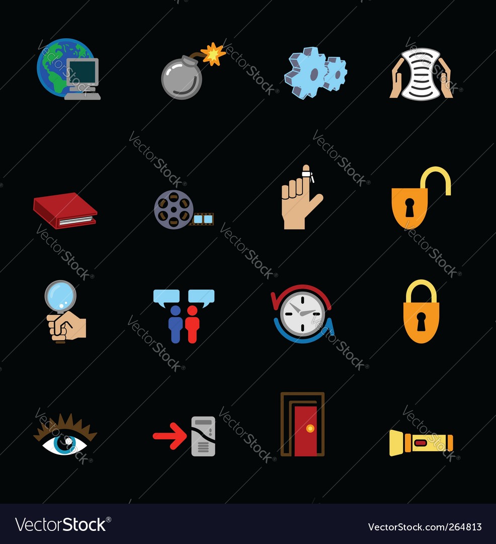 Internet web icons vector image