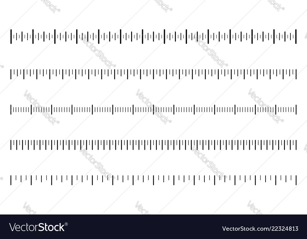 Measurement scale with black marks ruler scale