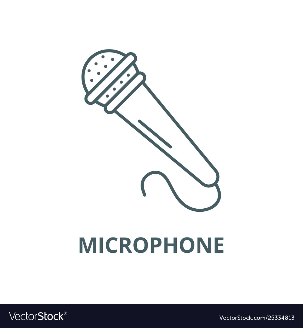 Microphone line icon linear concept
