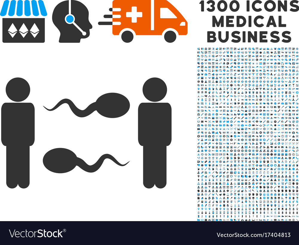 Sperm exchange men icon with 1300 medical business