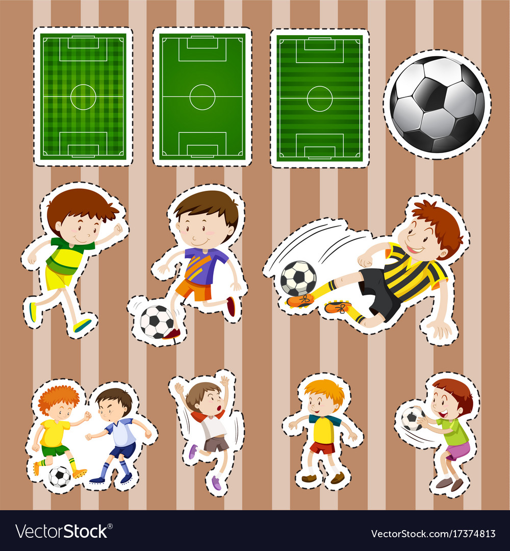 Sticker design for soccer players and fields