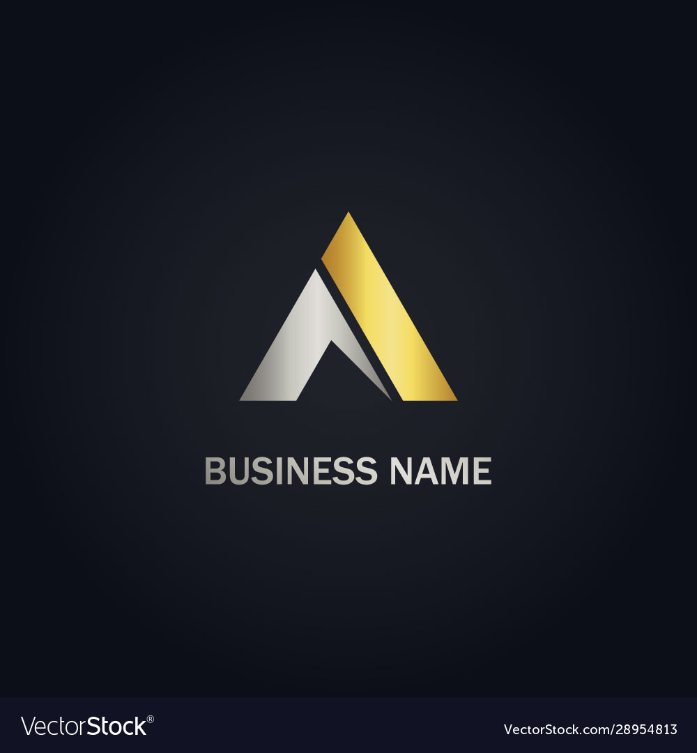 Triangle abstract gold logo