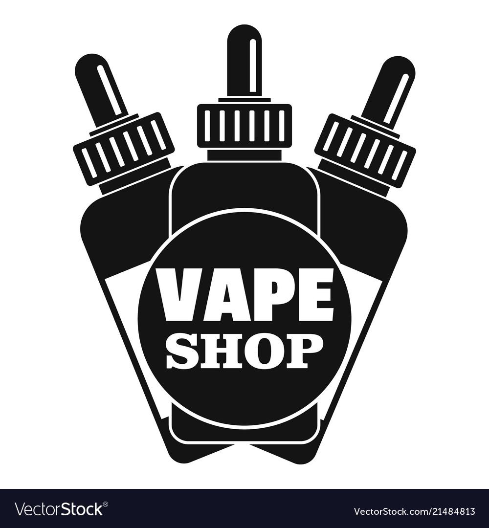 Vape liquid shop logo simple style