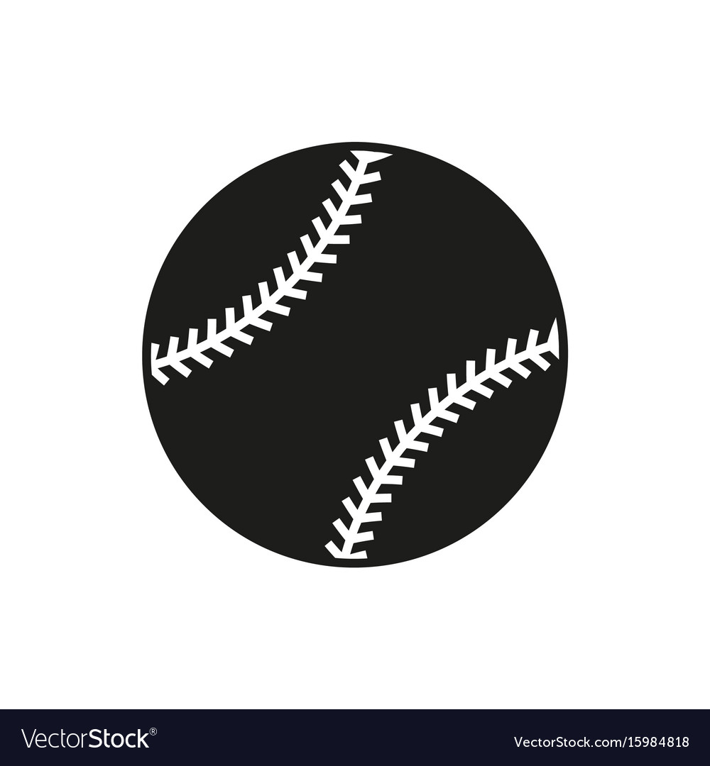 Baseball line art icon on white background