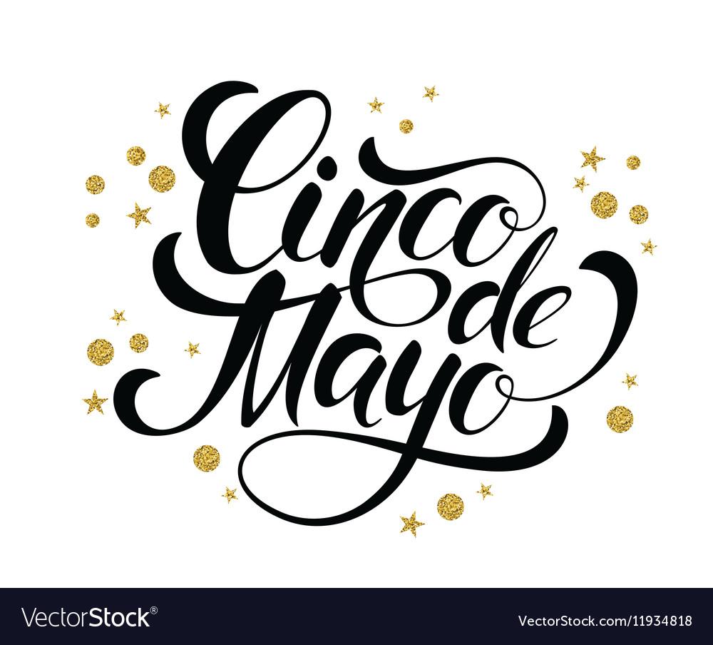 Cinco de Mayo glittering lettering design
