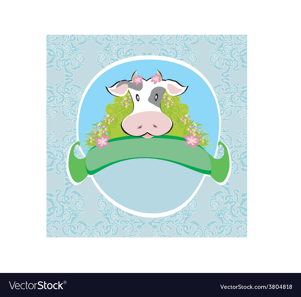 Funny cow signs vector image