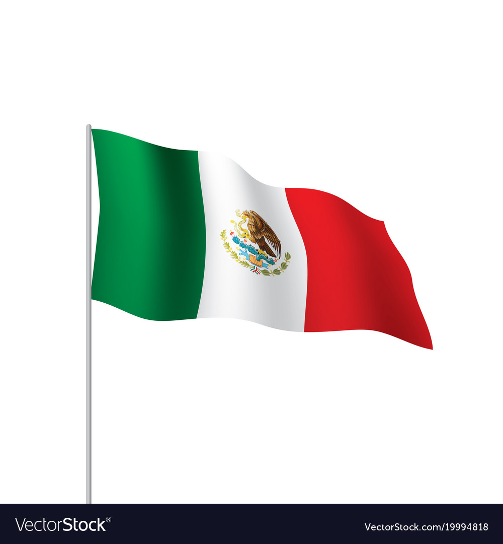 mexican flag royalty free vector image vectorstock rh vectorstock com mexican flag vector art mexico flag vector