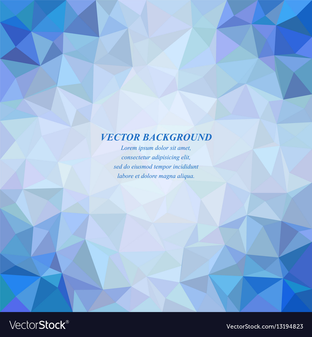 Blue tiled triangle mosaic background design vector image