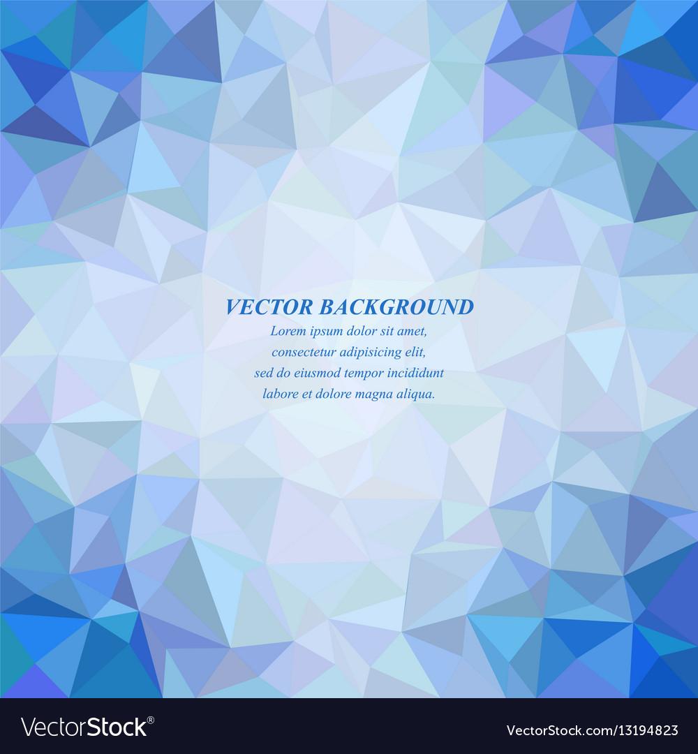 Blue tiled triangle mosaic background design