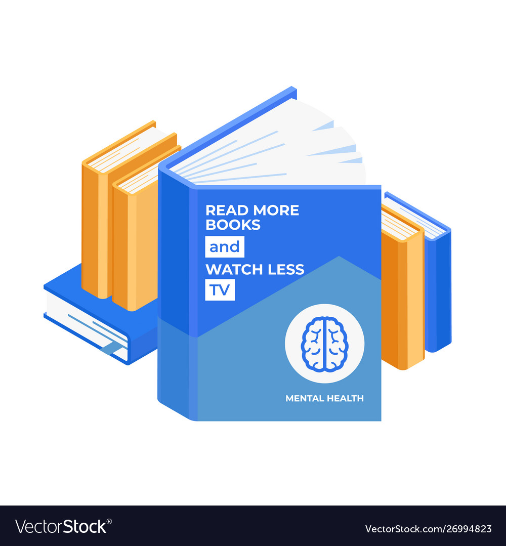 Books pile isometric design isolated on white vector