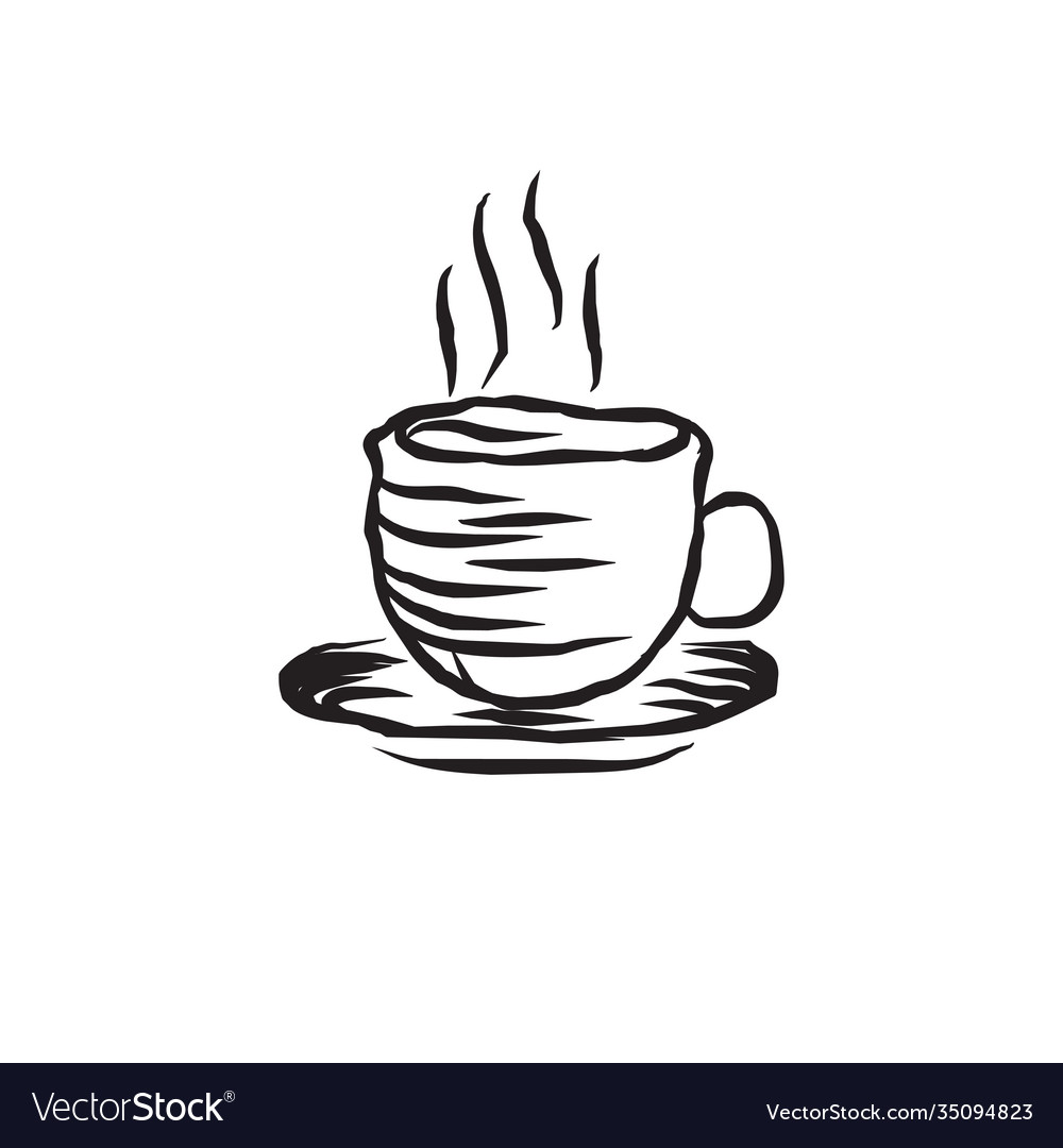 Classic A Cup Coffee Logo Design Template Vector Image