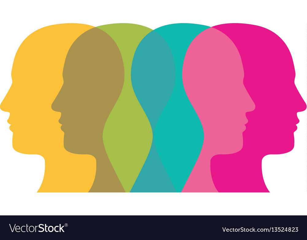 Color contour humans icon