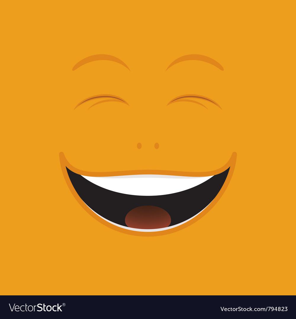 Laughing cartoon face vector image