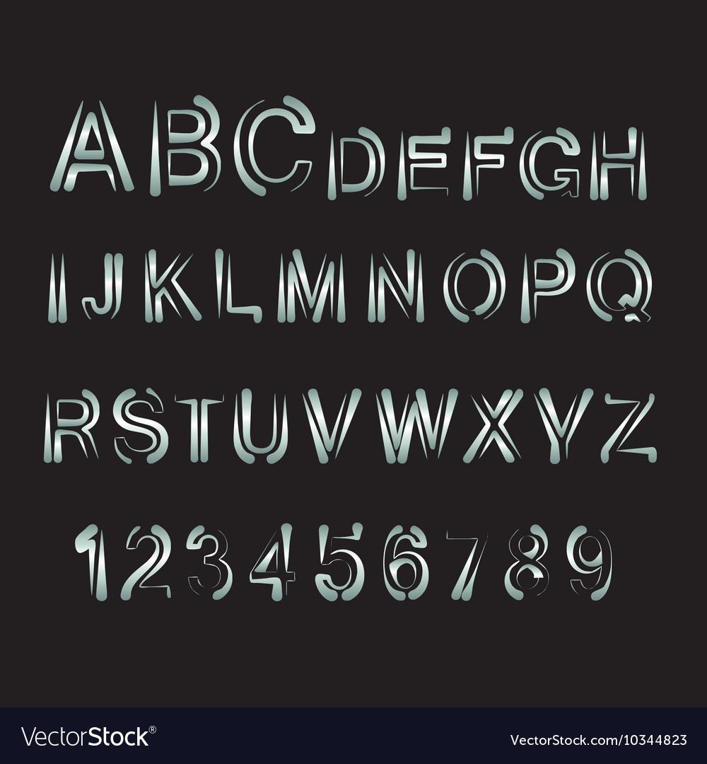 Minimalist alphabet White thin letters