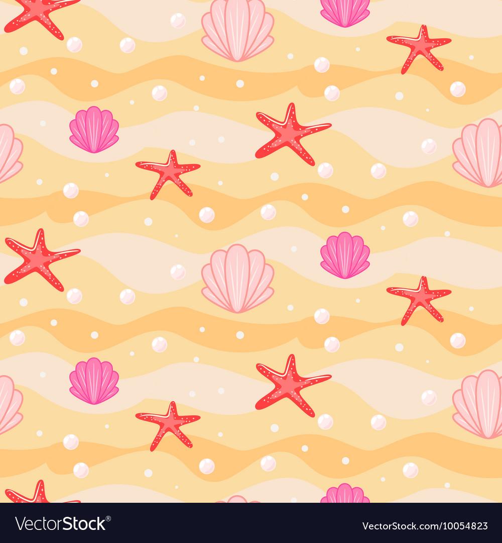 Sandbed cartoon seamless pattern