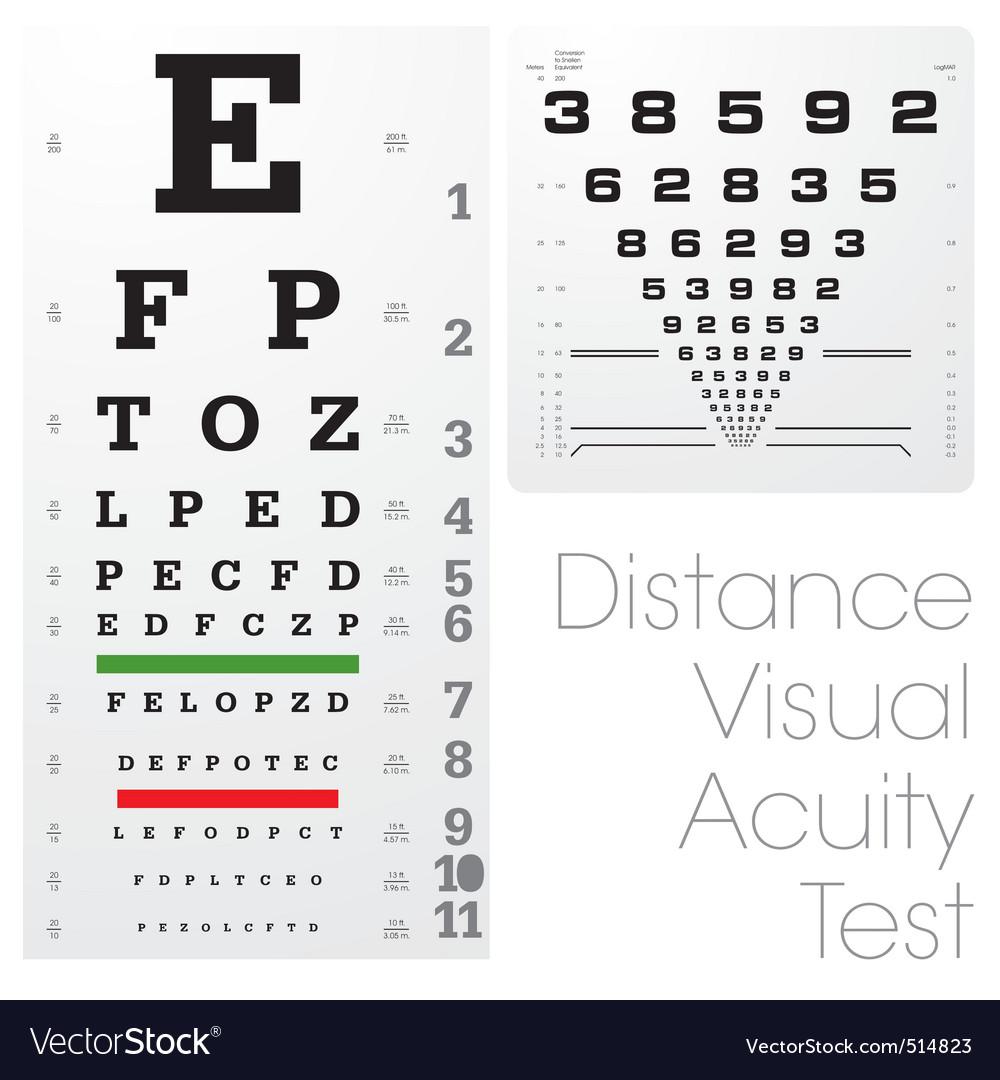 Snellen Eye Chart Royalty Free Vector Image Vectorstock