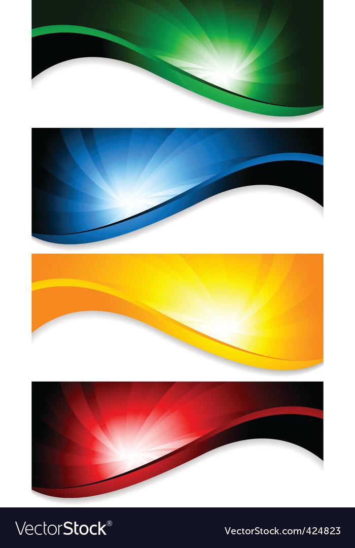 Vector tech background vector image