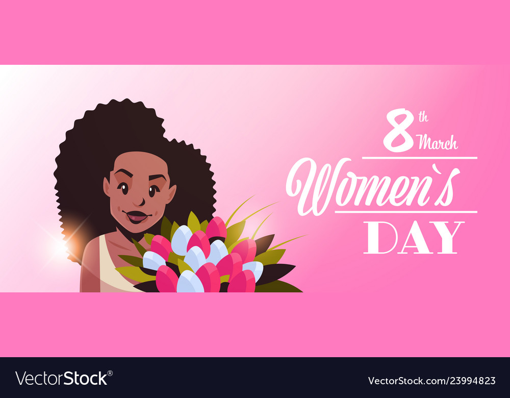 Woman holding bouquet of flowers happy women day 8