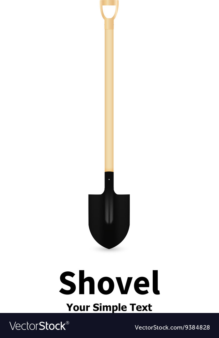 A shovel vector image