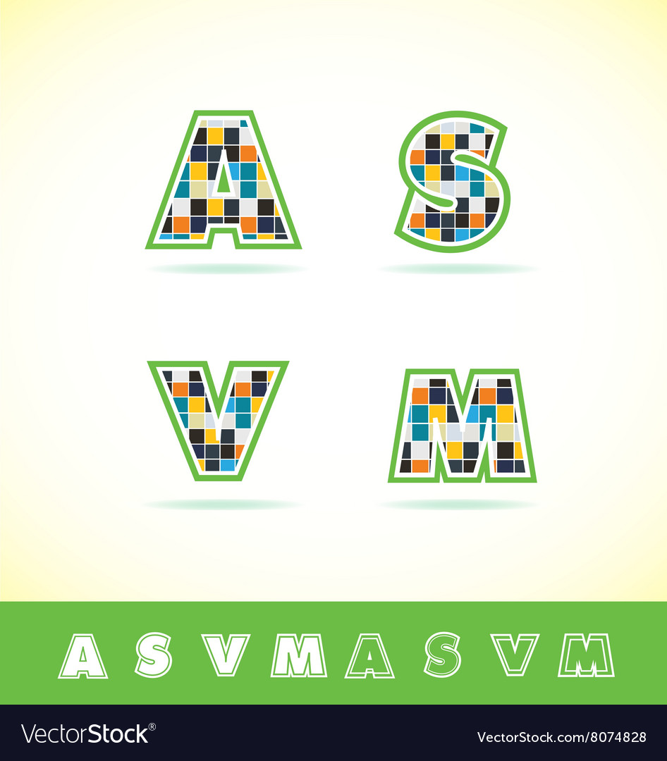 Alphabet letter set tiles